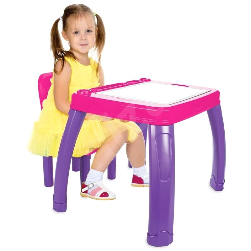 Jamara Childrens seating group - Lets Study pink - Children's Table