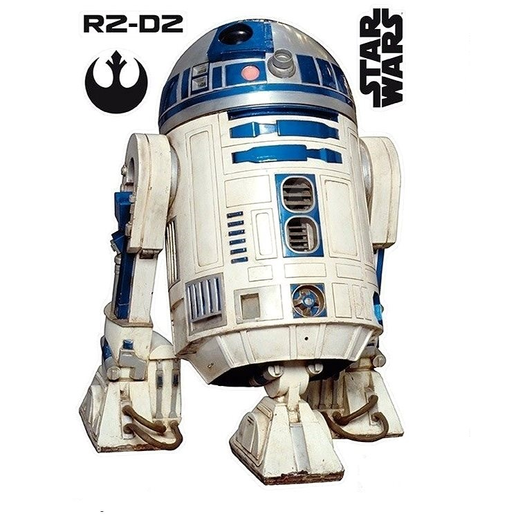 ABYstyle - Star Wars - Self-adhesive Wall Decoration - scale 1: 1 - R2D2 - (size: 95 x 66cm] - Children's Bedroom Decoration