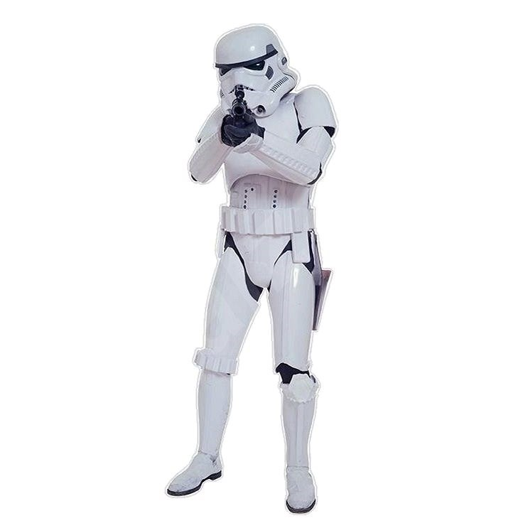 ABYstyle - Star Wars - Self-adhesive wall decoration - scale 1: 1 - Storm Trooper - (size: 180 x 7) - Children's Bedroom Decoration