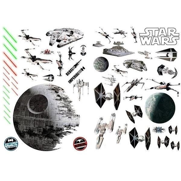 ABYstyle - Star Wars - Self-adhesive wall decoration - (size: 100 x 70 cm) - Battleships - Children's Bedroom Decoration