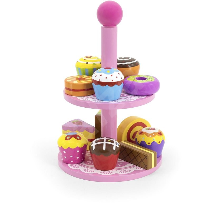 Wooden cupcakes with stand - Thematic Toy Set