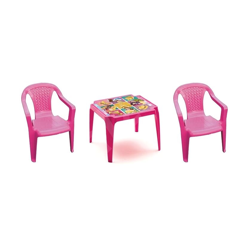 IPAE - PRINCESS Set 2 Pink Chairs + Table - Children's Furniture