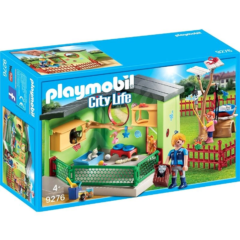 Playmobil 9276 City Life Pet Hotel Purrfect Stay Cat Boarding - Building Kit