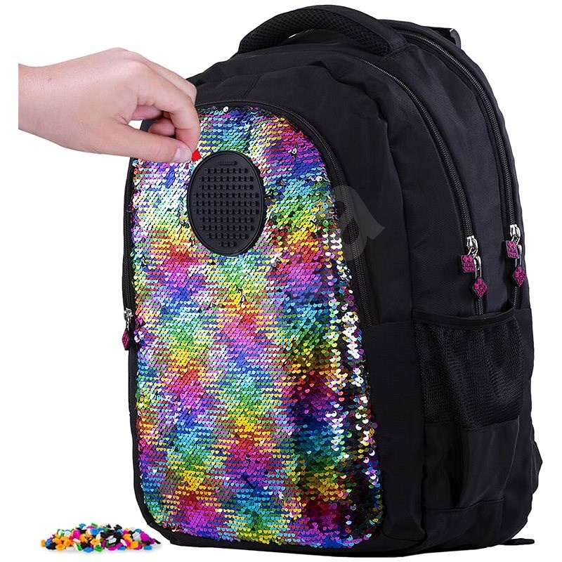 Pixie Crew student backpack with sequins - School Backpack