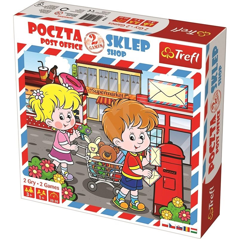 Trefl Post Office and Shop 2-in-1 - Board Game