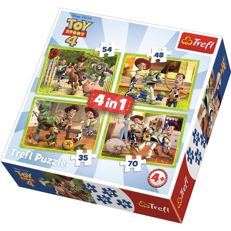 Trefl Puzzle Toy Story 4: Toy Story 4-in-1 (35, 48, 54, 70 pieces) - Puzzle