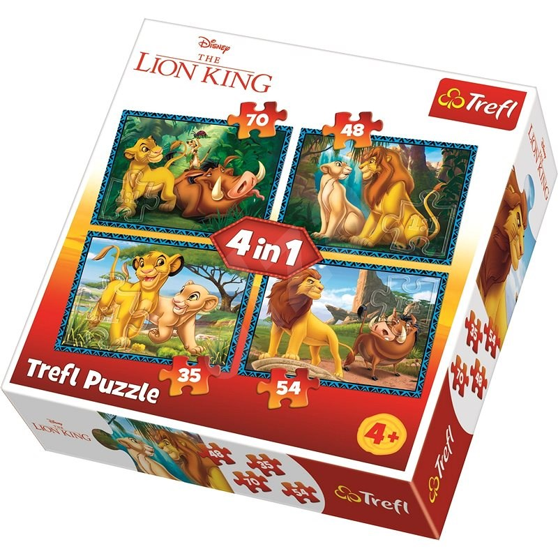 Trefl Puzzle Lion King 4-in-1 (35, 48, 54, 70 pieces) - Puzzle