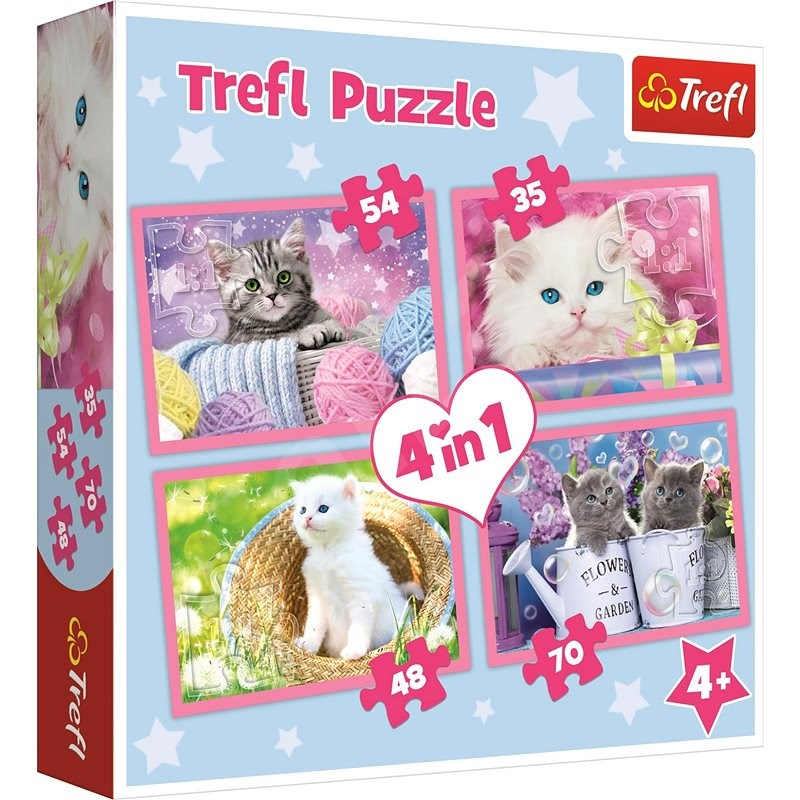 Trefl Puzzle Playful Kittens 4-in-1 (35,48,54,70 pieces) - Puzzle