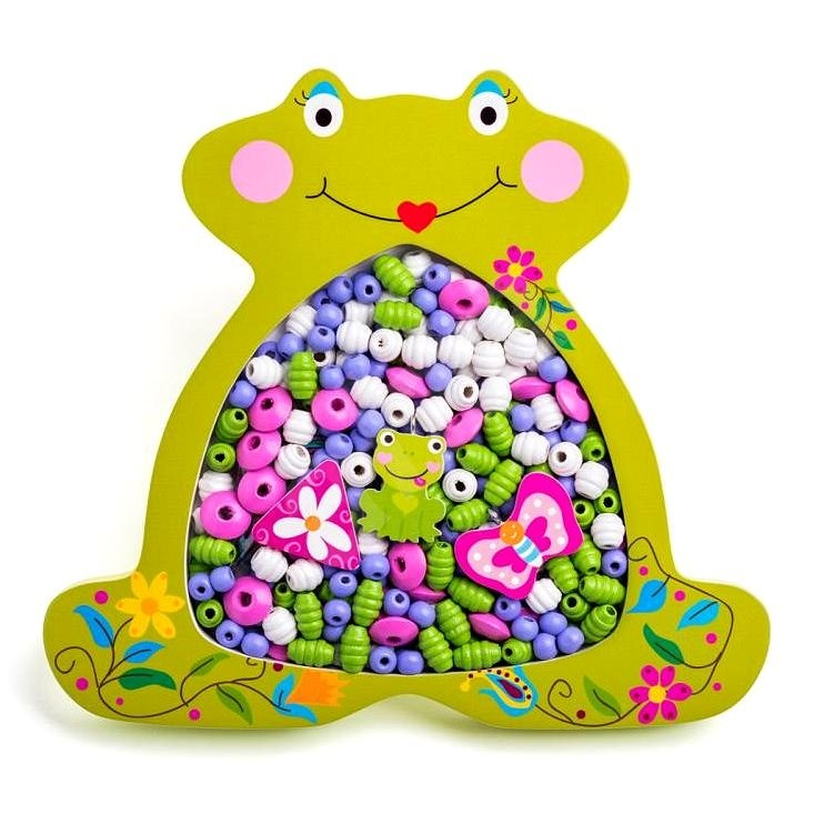 Woody Threaded Beads - Frog - Beads