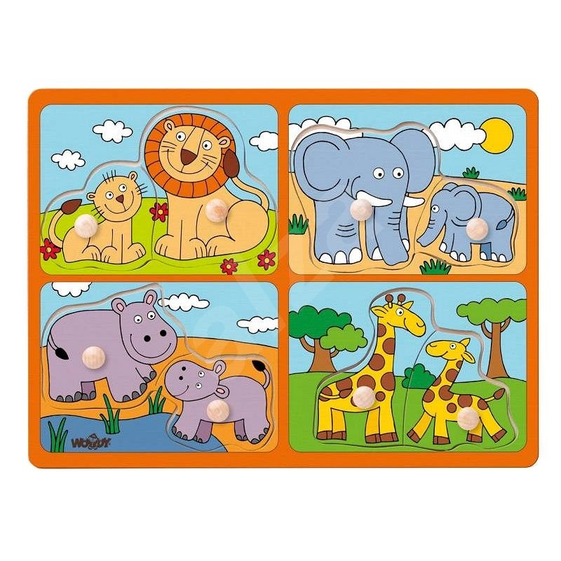 Woody Puzzle for the Little Ones with Handles - Puzzle