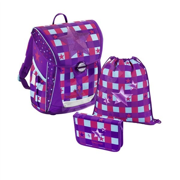 Baggymax Fabby Pink Star - School Set
