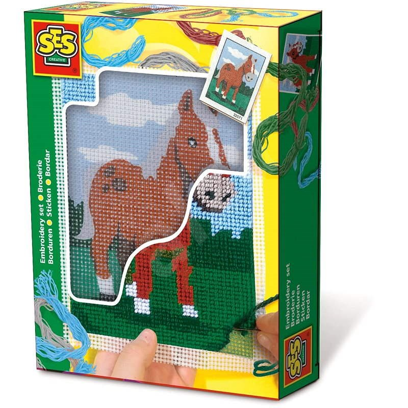 SES Embroidery blankets - horse - Sewing for Children