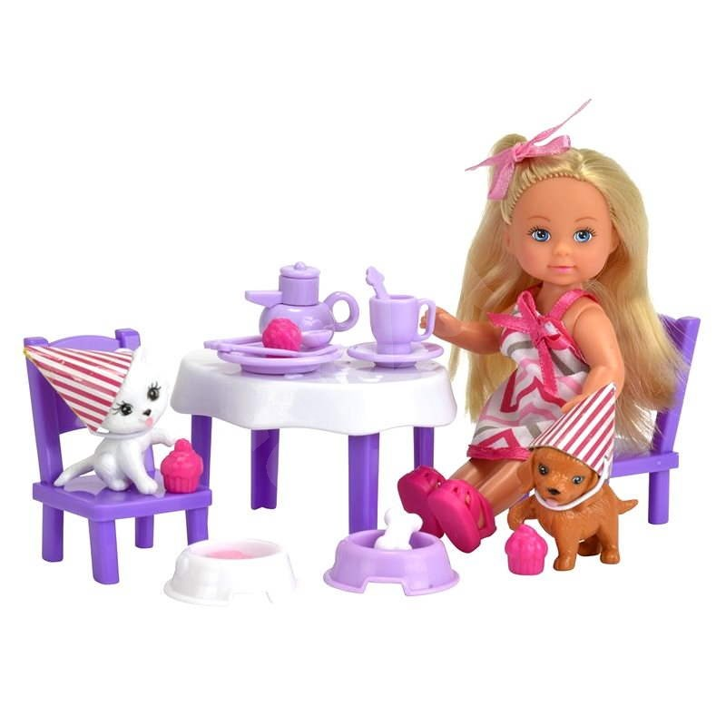 Simba Doll Tea party with animals - Doll