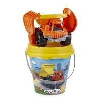 Ecoiffier Bucket with construction car and accessories, 17 cm - Sand Tool Kit