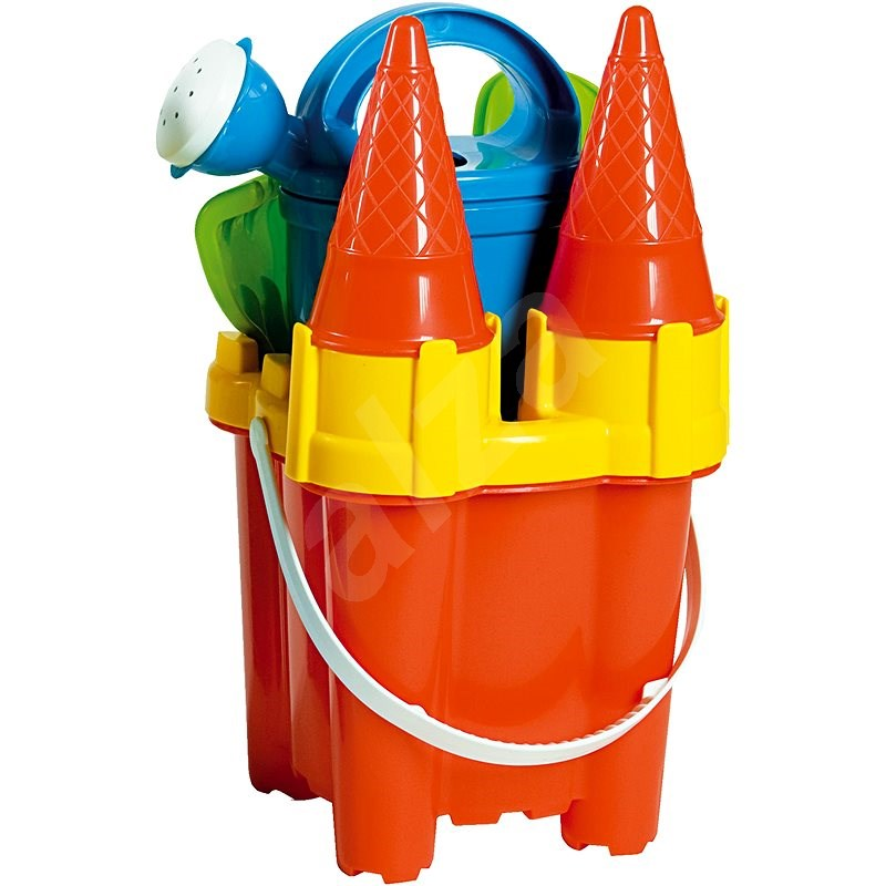 Androni Sand Castle Set - Height 29cm, Red - Sand Tool Kit