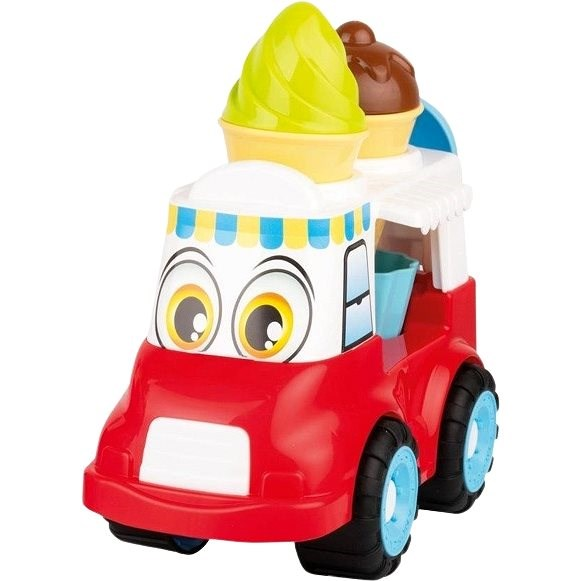 Androni Cheerful Ice Cream Truck - 24cm, Red - Sand Tool Kit