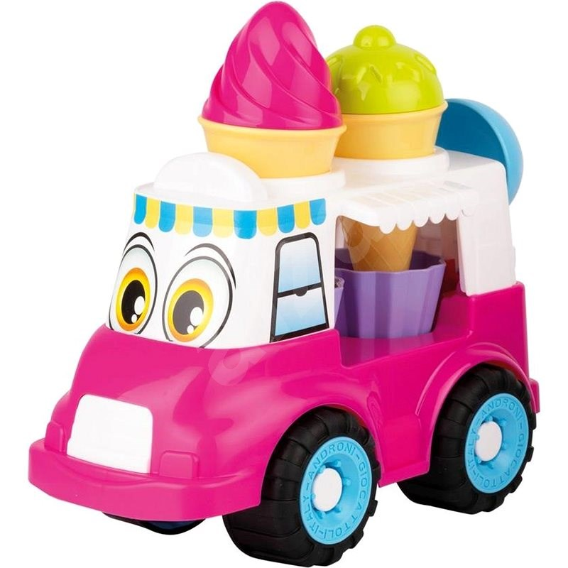 Androni Cheerful Ice Cream Truck - 24cm, Pink - Sand Tool Kit