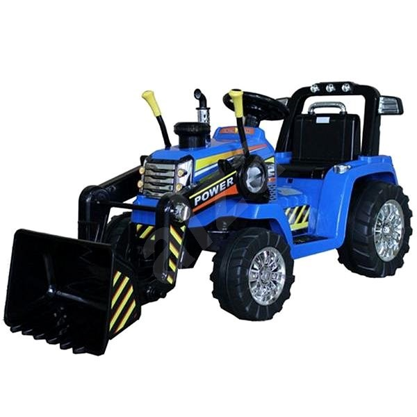 MASTER Tractor with Ladle, Blue, Rear-wheel Drive - Children's Electric Car