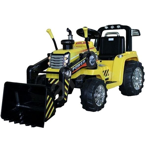 MASTER Tractor with Scoop, Yellow, Rear-wheel Drive - Children's Electric Car