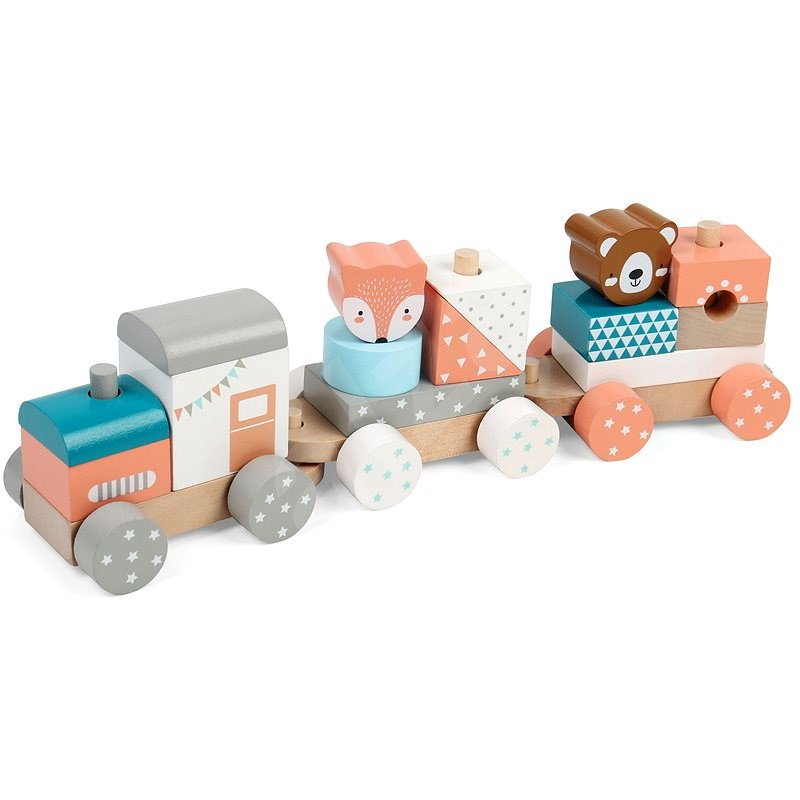Wooden Train with Animals - Train