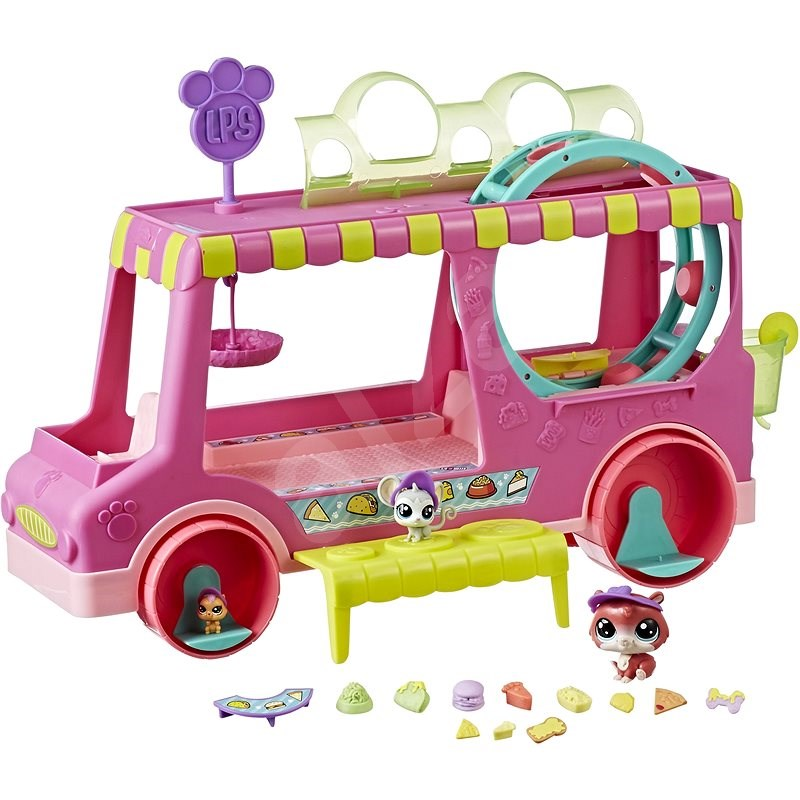 Littlest Pet Shop Confectionery Wagon with 3 Animals - Figure Accessories