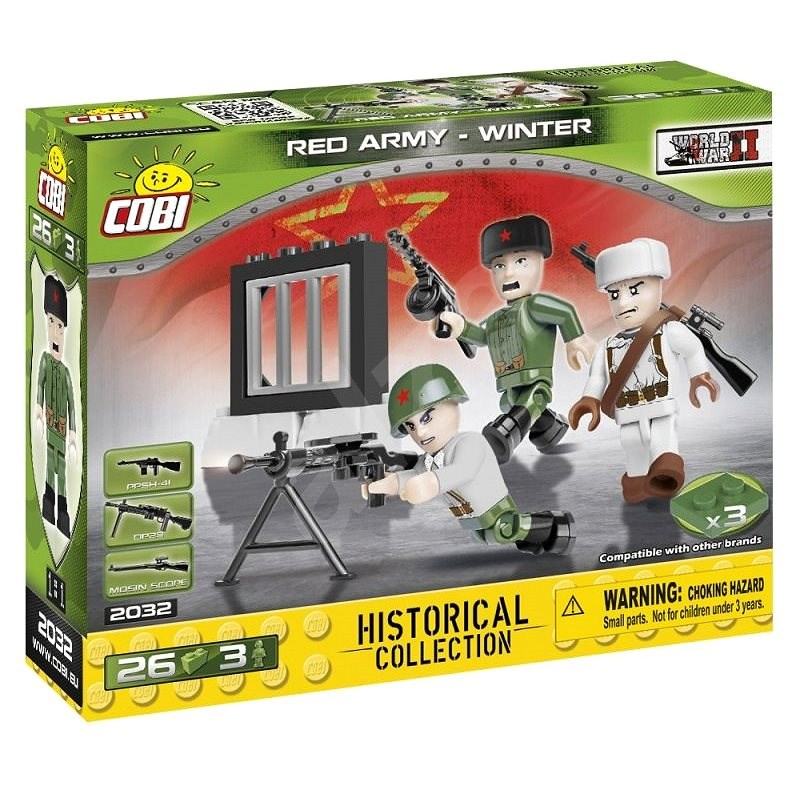Cobi 3 figures with accessories Soviet winter army - Building Kit