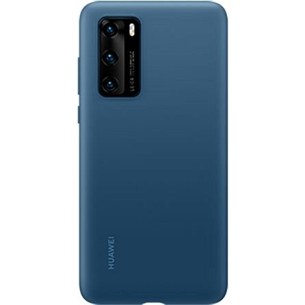 Huawei Original Silicone Case, Ink Blue, for P40 - Mobile Case
