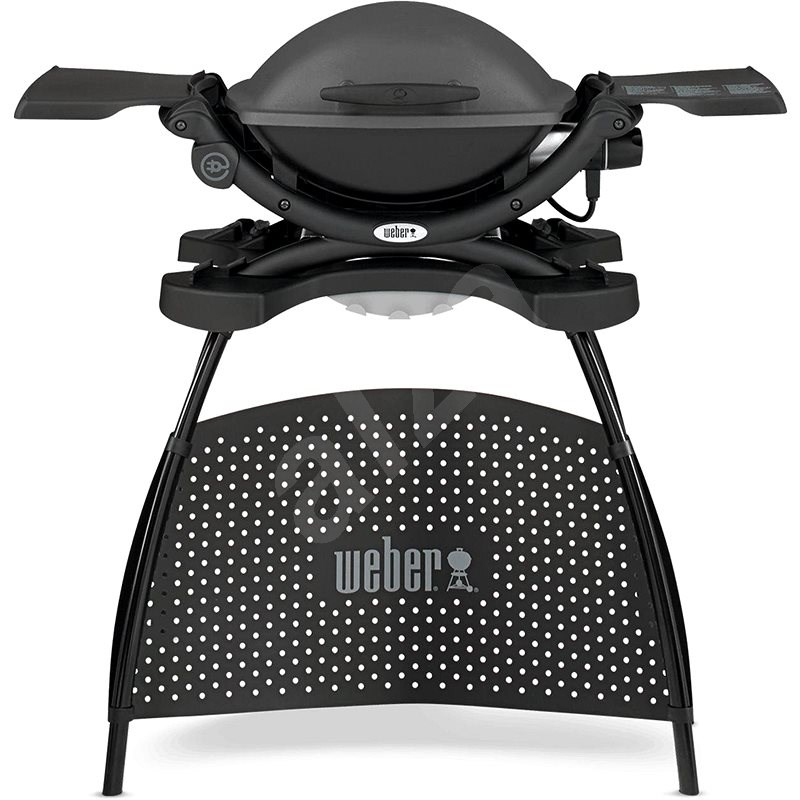 Weber Q 1400 Stand Electric Grill, Dark Grey - Electric Grill