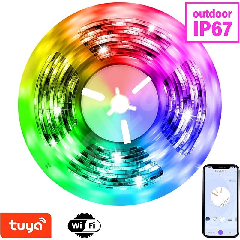 Immax NEO LITE Smart Strip LED 5m, RGB, CCT, Colour, Dimmable, Wifi IP67, Outdoor - LED Light Strip