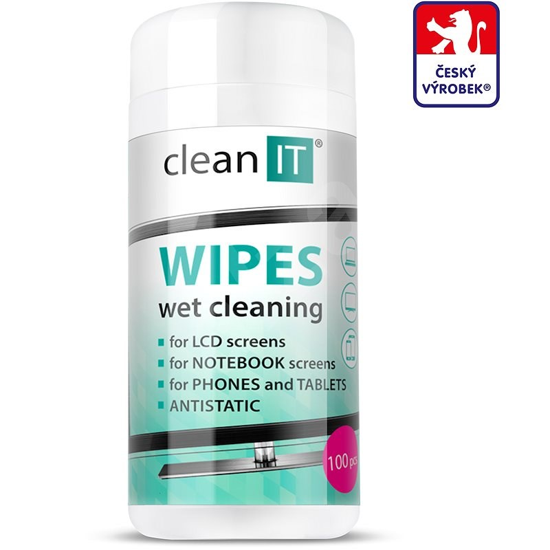 CLEAN IT Cleaning Wet Wipes for LCD/TFT 100 pcs - Wet Wipes