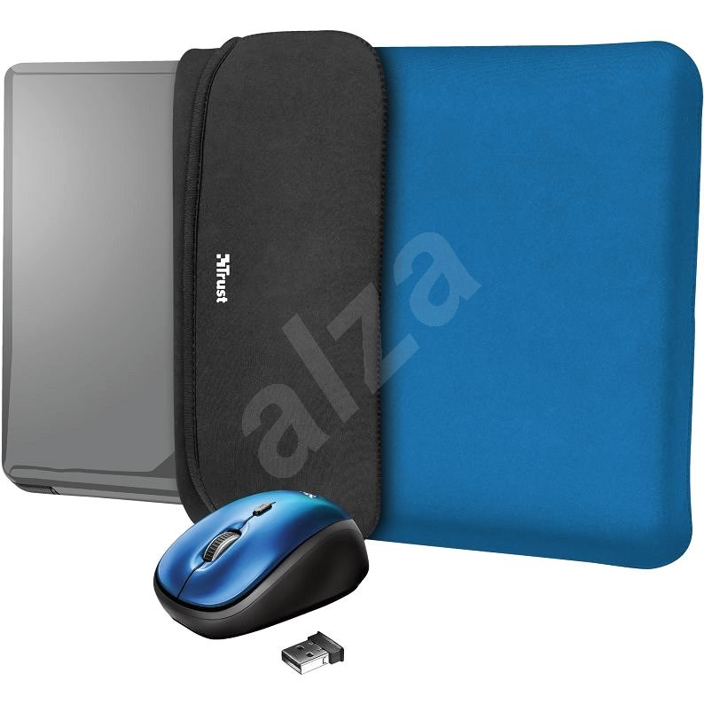 TRUST YVO MOUSE & SLEEVE F/15.6 – BLUE - Laptop Case