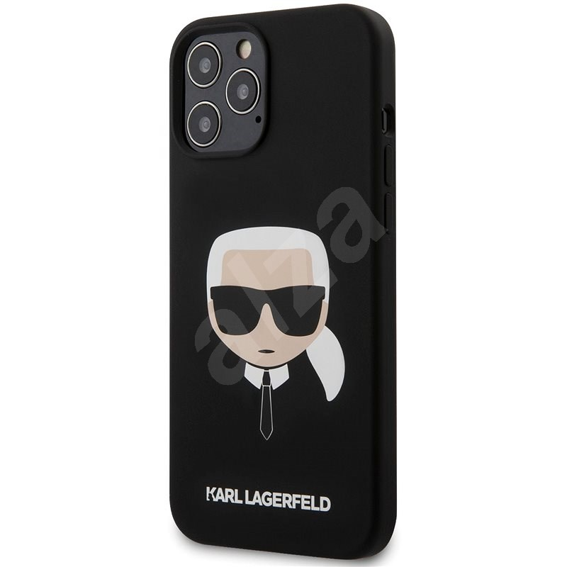 Karl Lagerfeld Head for Apple iPhone 12 Pro Max, Black - Mobile Case