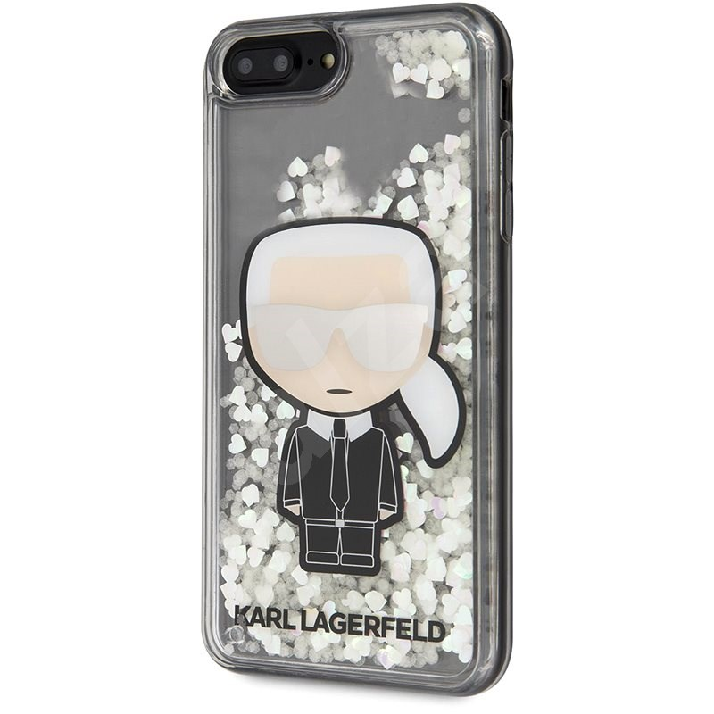 Karl Lagerfeld Liquid Glitter Iconic Cover for iPhone 7/8 Plus