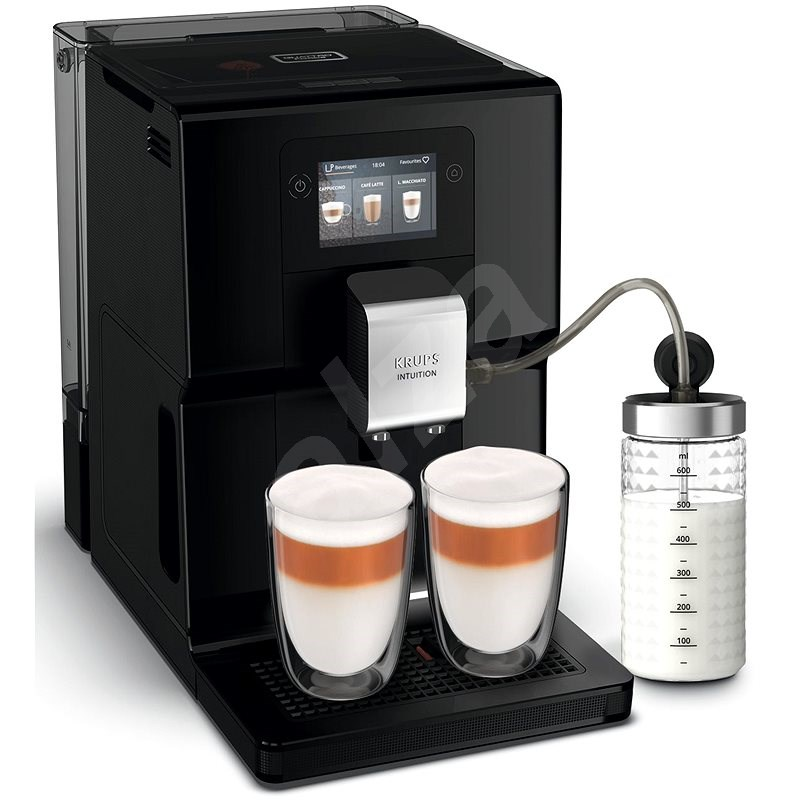 Krups EA873810 Intuition Preference Black With Milk Container - Automatic Coffee Machine