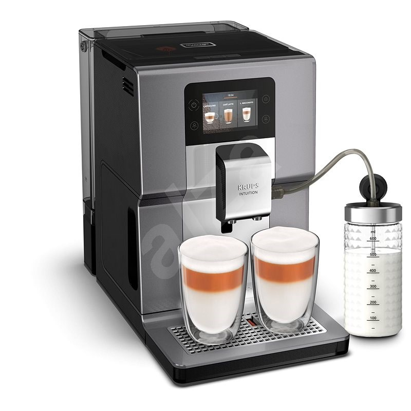 Krups EA875E10 Intuition Preference+ Chrome With Milk Container - Automatic Coffee Machine