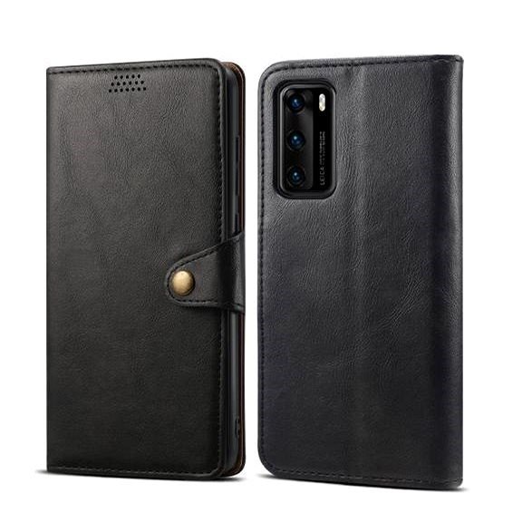 Lenuo Leather for Huawei P40, Black - Mobile Phone Case