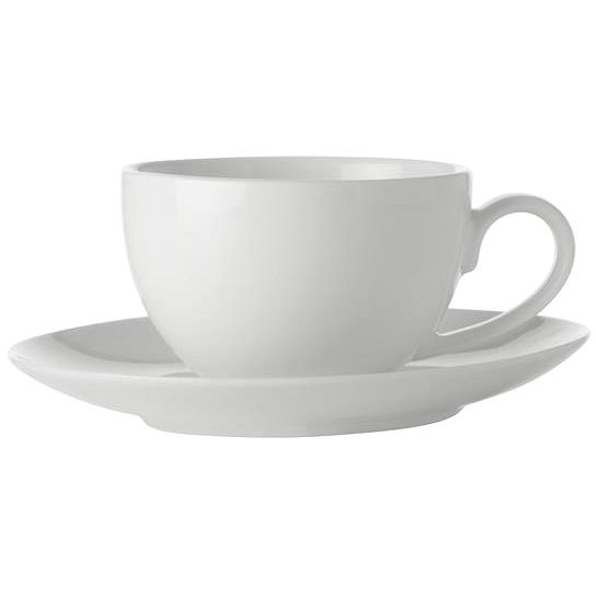 Maxwell & Williams Espresso Cup and Saucer 4 pcs 100ml WHITE BASIC - Cup & Saucer Set