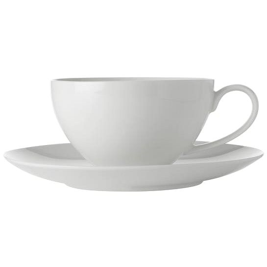 Maxwell & Williams Cup and Saucer 4 pcs 400ml WHITE BASIC - Cup & Saucer Set