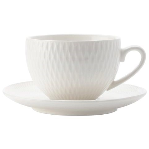 Maxwell & Williams Set of espresso cups with saucer DIAMONDS 90ml, 4pcs - Cup & Saucer Set