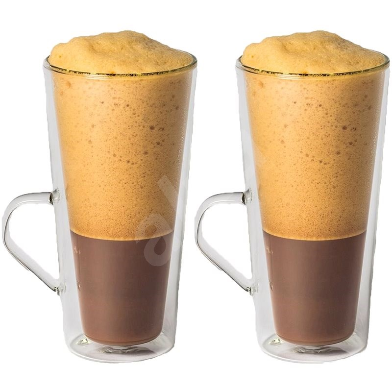 Maxxo Thermos coffee glasses Frappé 320ml 2pcs - Glass for Hot Drinks
