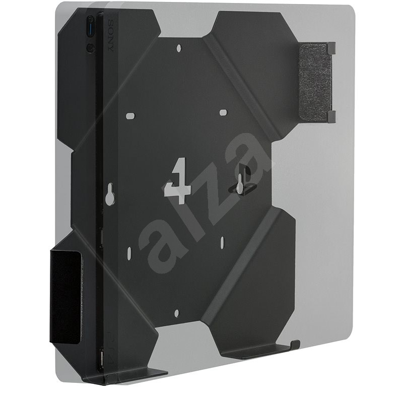 4mount - Wall Mount for PlayStation 4 Slim Black - Wall Mount