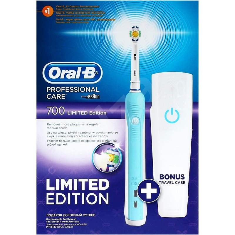 Oral B Professional Care 700 White + travel case  - Electric Toothbrush