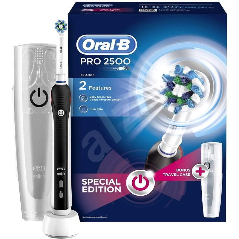 Oral B Cross Action Pro 2500 Black Electric Toothbrush Alzashop Com
