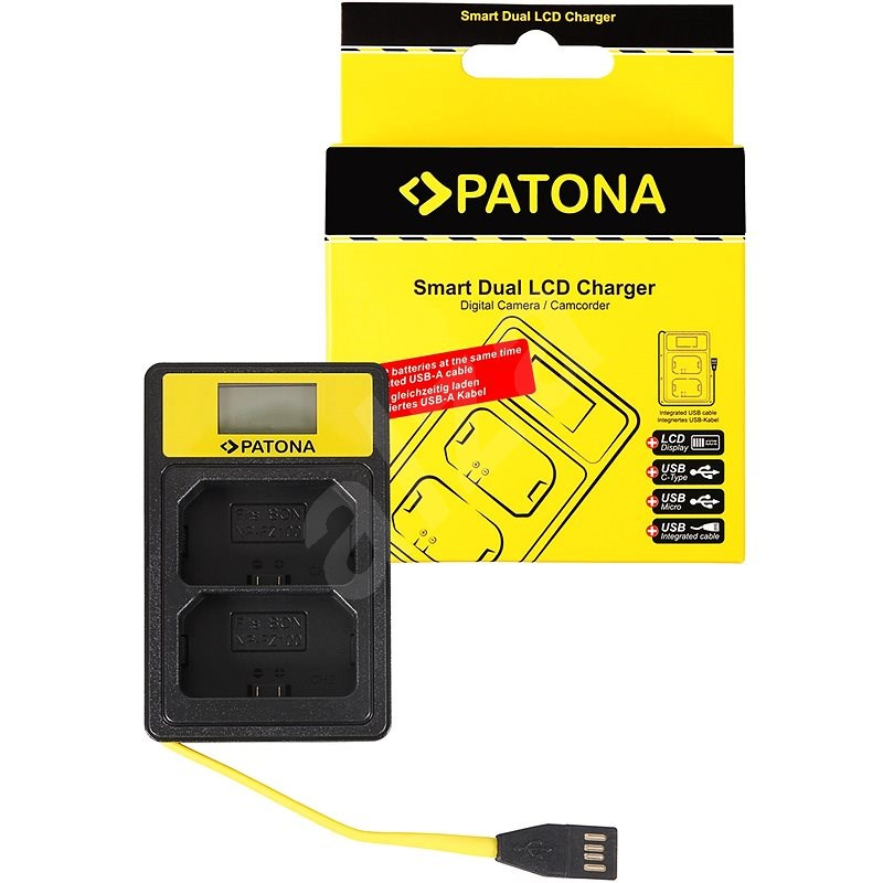 PATONA for Dual Sony NP-FZ100 with LCD, USB - Battery Charger