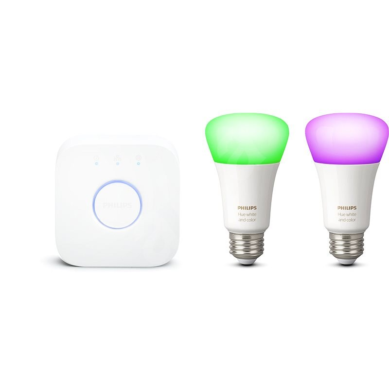 Philips Hue White and Color Ambiance 9,5W E27 PMO 2 Pack Starter Pack - LED Bulb
