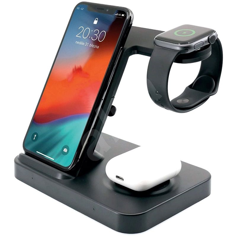 FIXED Powerstation for 3 Devices, Black - Wireless Charger