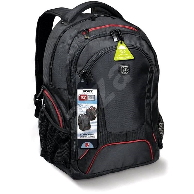 """PORT DESIGNS Courchevel 17.3"""" black/red - Laptop Backpack"""