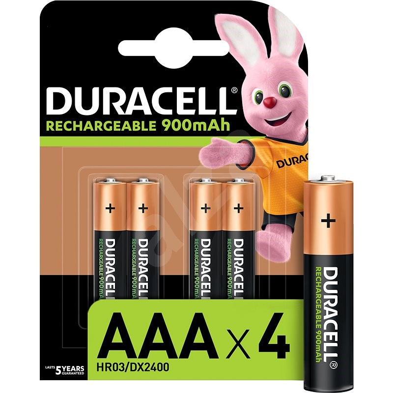 Duracell StayCharged AAA - 900 mAh 4pcs - Rechargeable Battery