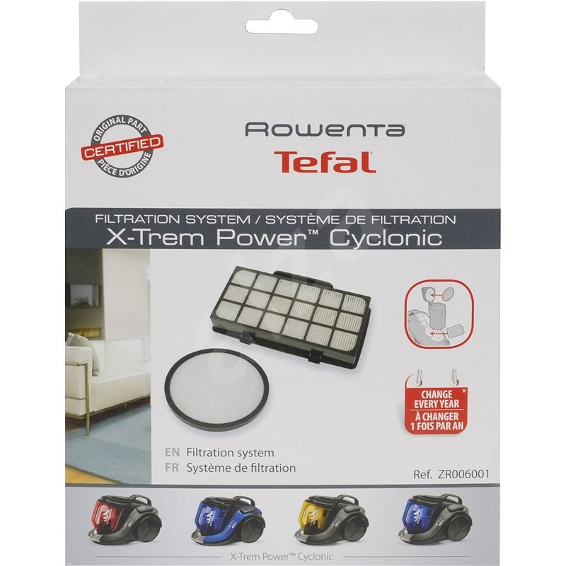 Rowenta ZR006001 Filter Set for X-Trem Power Cyclonic RO69 and Silence Force Cyclonic RO72 - Vacuum Filter