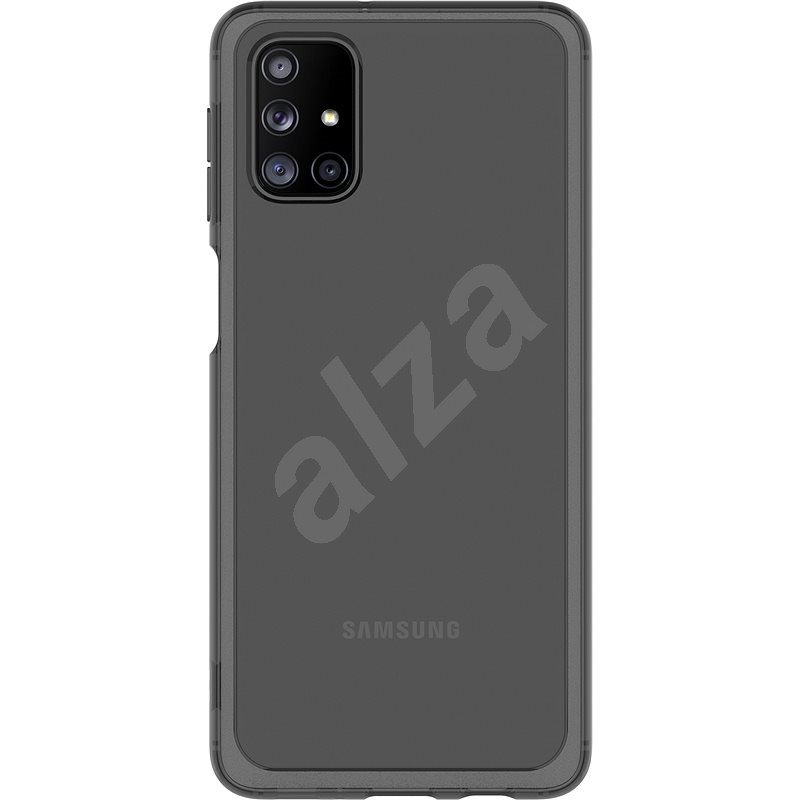 Samsung Semi-transparent Back Cover for Galaxy M31s, Black - Mobile Case